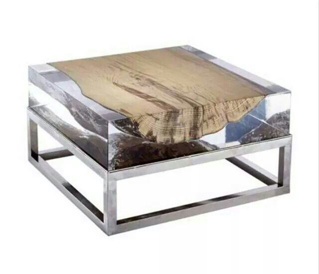 Exceptional Acrylic Table Top With Stainless Steel Legs