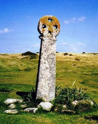 St Piran's Cross, Penhale Sands, Cornwall. This 8 ft high cross is the oldest recorded cross in Cornwall. It was already an old landmark when mentioned in AD 960.
