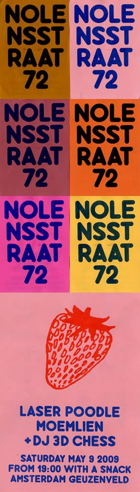Nolens Straat poster by Johann Kauth.