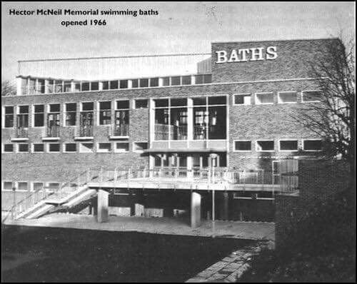 hector mcneil swimming baths, opened 1966