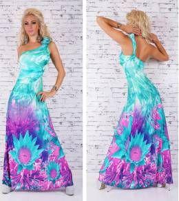Εντυπωσιακό μάξι φόρεμα με ένα ώμο