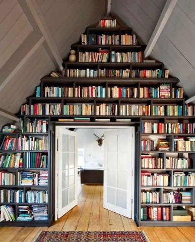 This Bookshelf Wall Is The Dream Of Every Bookworm. How Else Will You Store  All Your Books In Your Dream Home Or Interior? I Always Love When  Bookshelves Go ...