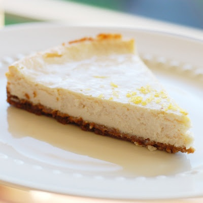 aqua elephant: Lemon Cheesecake with Gingersnap Crust (vegan)