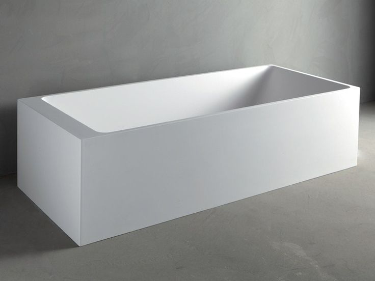 Rectangular Mineralmarmo® bathtub SQUARE by RIFRA