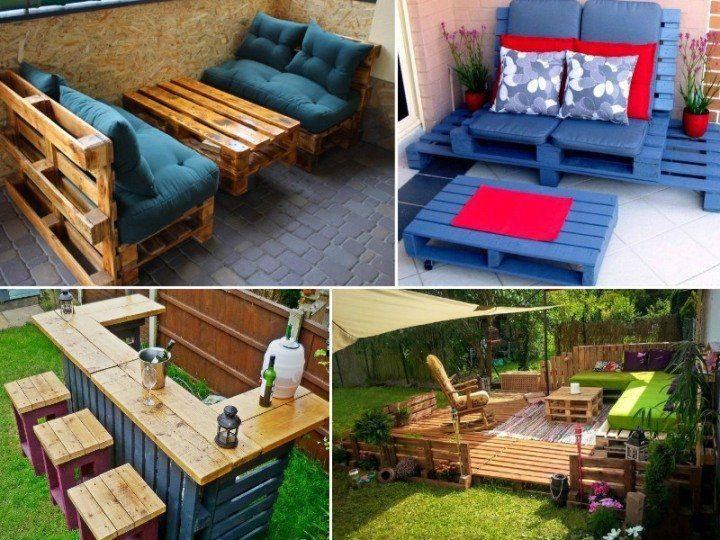 Что можно сделать из поддонов (фото идеи) | Мебель для двора, Дом ...