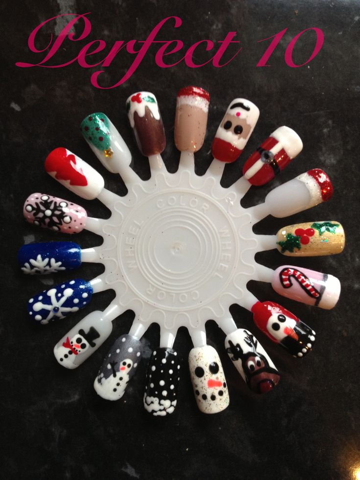 76 best funky nails images on pinterest nail scissors christmas fun christmas nail art done with gelish prinsesfo Choice Image