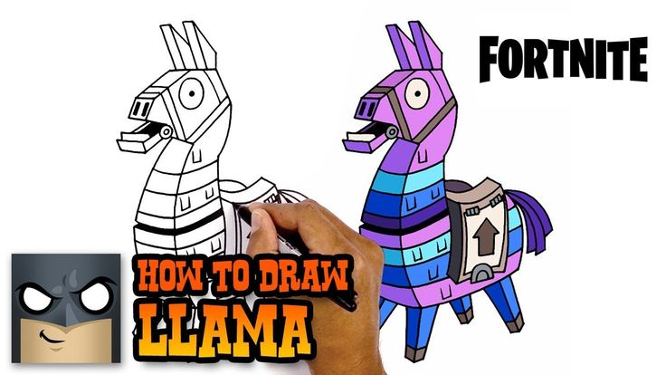 How To Draw Llama Fortnite Awesome Step By Step