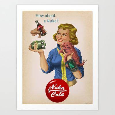 How About a Nuke? Art Print by Packard Prints - Blake Packard - $16.64