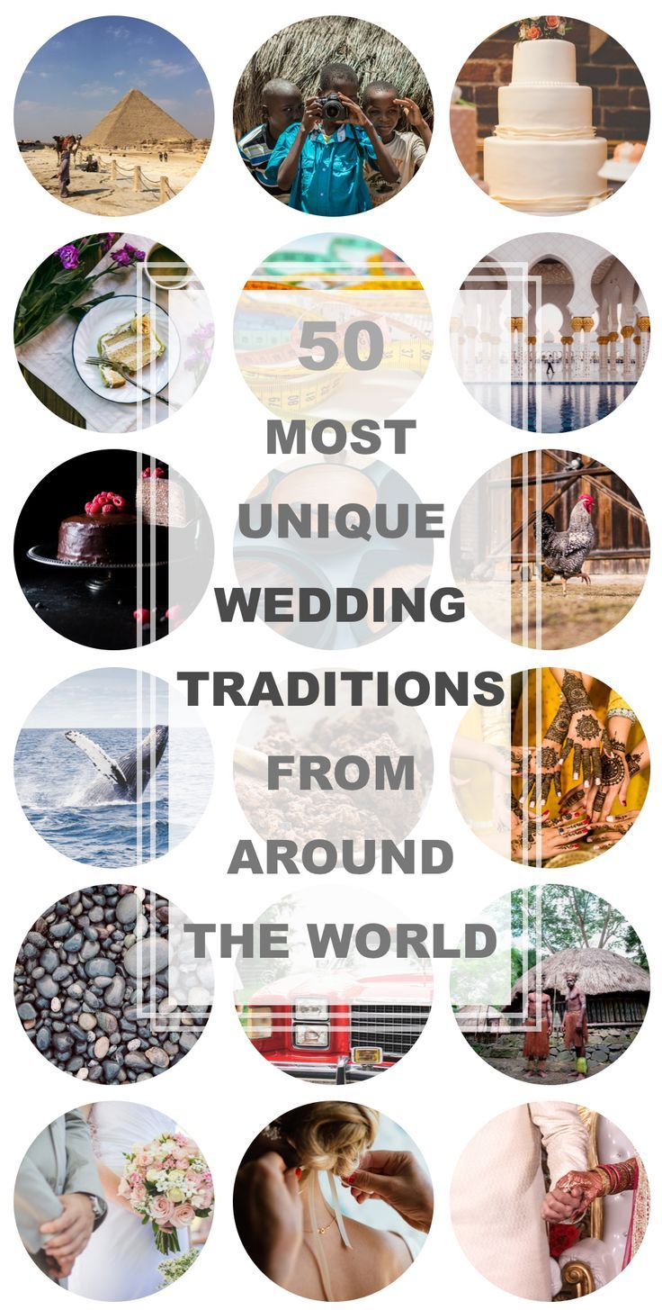 These 50 most unique wedding traditions from around the world are THE BEST! I'm so glad to find these AWESOME weddings ideas! From bride kidnapping to catching whales! Definitely pinning!  #WeddingIdeas #CountryWedding #weddingideas #weddinginspiration #world #traditionalwedding