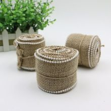 Sewing Tape Natural Jute Hessian Roll Burlap Trims 1M Craft DIY Lace Ribbon Tape Rustic Wedding Centerpieces Party Decor Craft(China (Mainland))