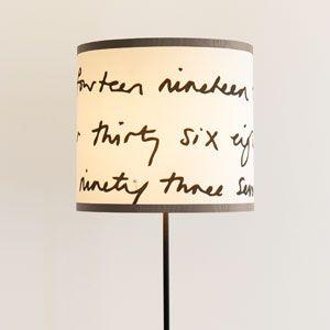 Lampenschirm selbst gestalten ohne Nähen, Schritt für Schritt Anleitungen.