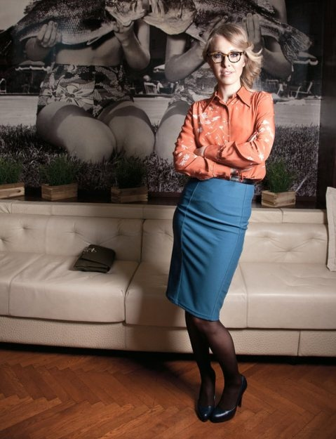 Ksenia Sobchak: an example of Russian style