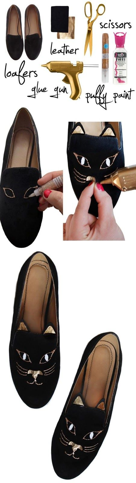 How To Paint Kitty in Your Loafers