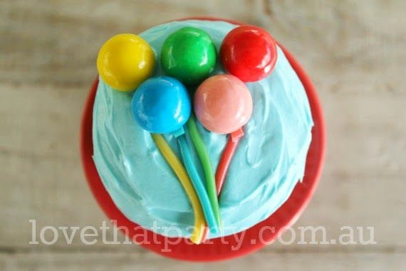 71 best images about carnival or circus party on pinterest for Balloon cake decoration
