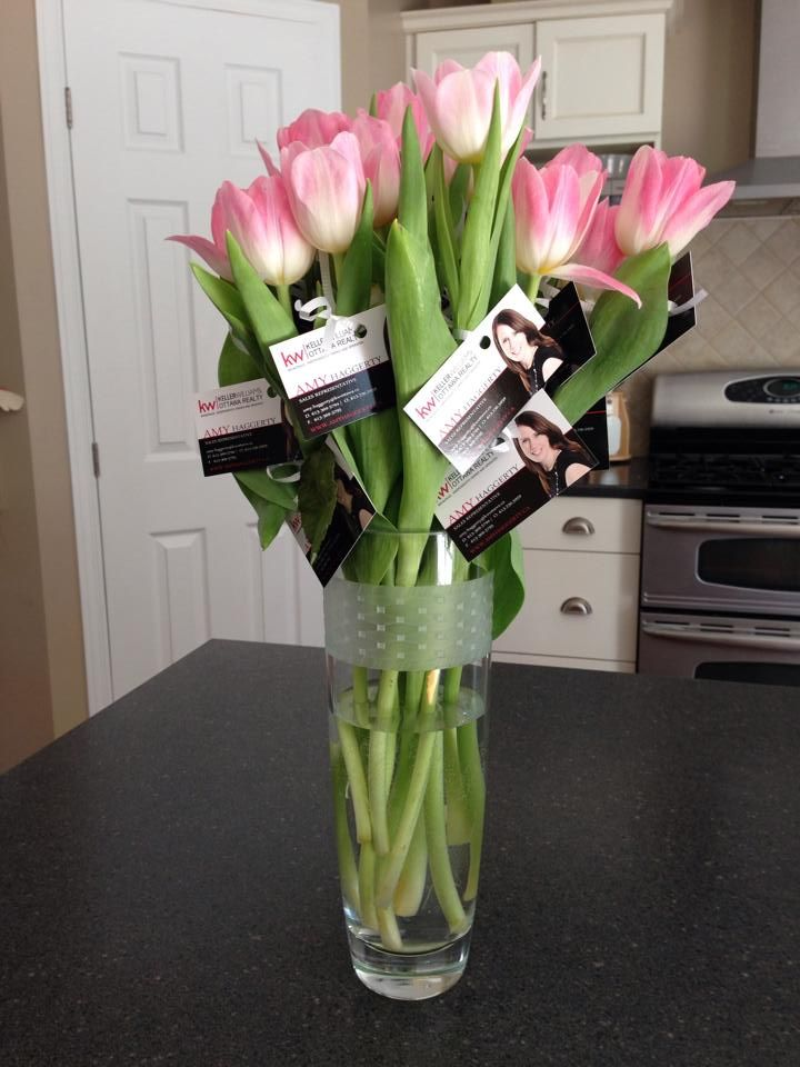 Tulips to give away to all the mom's that come through my Open House on Mother's Day!