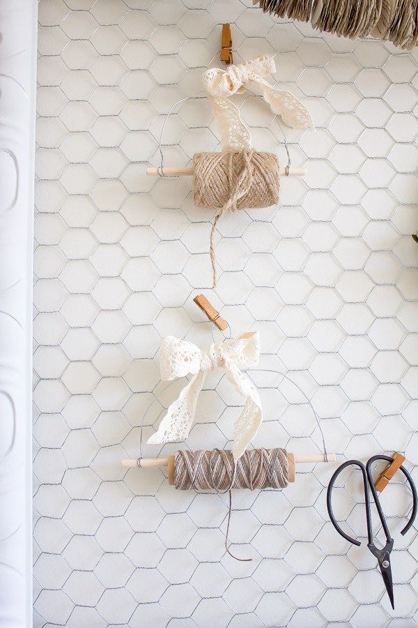 Rustic DIY Farmhouse Twine Dispenser which is a feature from Waste Not Wednesday-48 by Making it in the Mountains   www.raggedy-bits.com