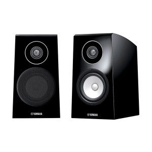 YAMAHA NS-B750 - 2-way bass-reflex bookshelf speaker system for front channels , rounded top panel reduces vertical standing waves; trapezoidal cabinet shape reduces horizontal standing waves, advanced PMD cone woofer, aluminium dome tweeter with DC-Diaphragm™, three-way mitered-joint construction.