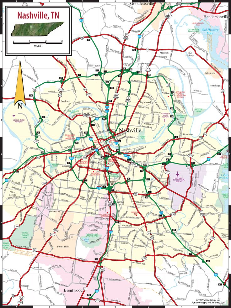 Map of Downtown Nashville Tennessee | Add this Map to Your Site | Print Map as a PDF