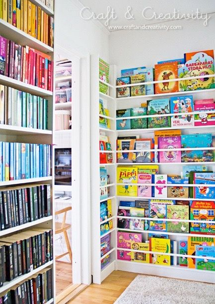Displaying your little one's book collection is an easy way to make a huge impact on a nursery or bedroom design