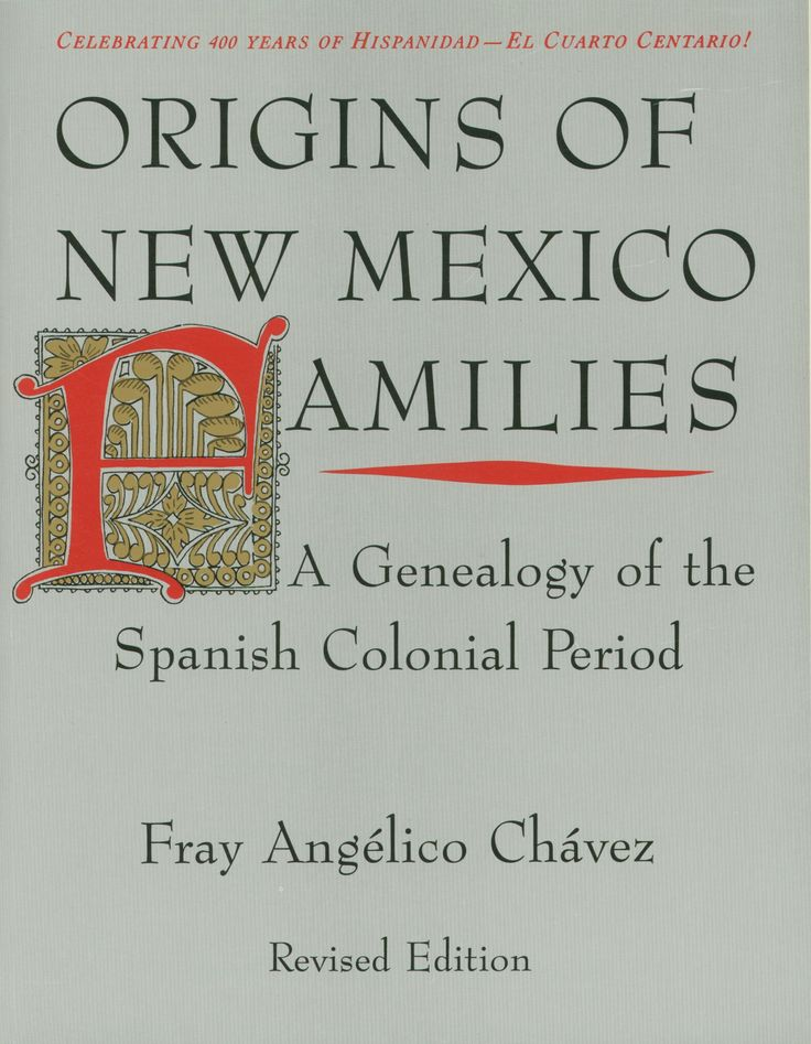 This book is considered to be the starting place for anyone having family history ties to New Mexico, and for those interested in the history of New Mexico. Well before Jamestown and the Pilgrims, New Mexico was settled continuously beginning in 1598 by Spaniards whose descendants still make up a major portion of the population of New Mexico.