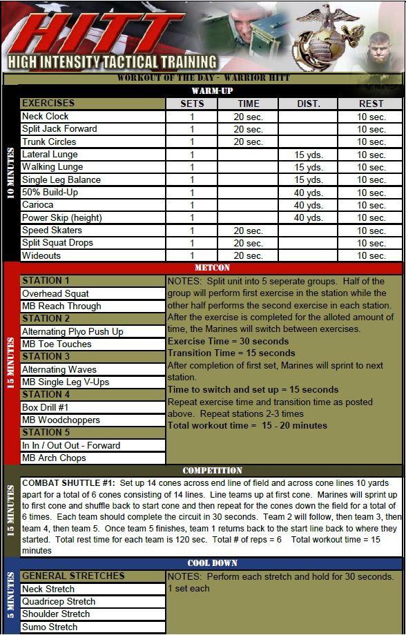 marine corps workout plan pdf