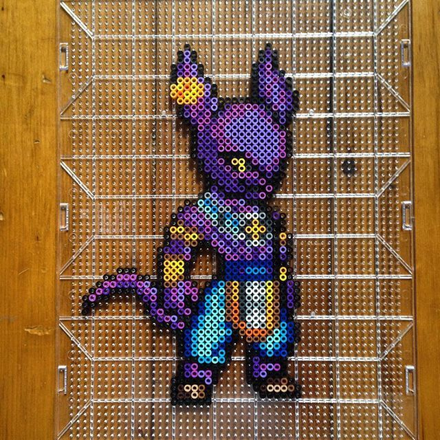Beerus - Dragon ball  perler beads by mastablasta3
