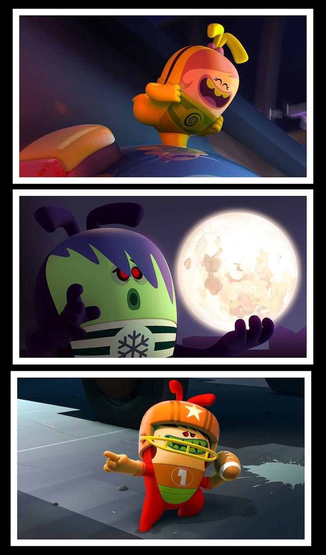 Carlos Tschuschke.  Bugsted Look Dev. Spanish animation show. Vodka Talent.