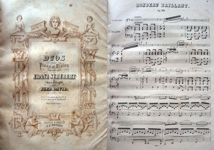 """MUSICA PER PIANOFORTE E VIOLINO. Raccolta di vari spartiti rilegati. Fine '800 ca. Mz. pelle e cart. rigido. All'interno una selezione di sonate di vari autori tra i quali J. S. Bach e F. Schubert. Alcune abrasioni alla cop, ma nel complesso discreto esemplare. Per informazioni: Studio bibliografico """"Amor di Libro"""" - Pistoia Tel. e fax: 0573-26758 e-mail: mila.sermi@yahoo.it eBay: http://stores.ebay.it/LA-STORIA-DI-CARTA website: www.amordilibro.com"""
