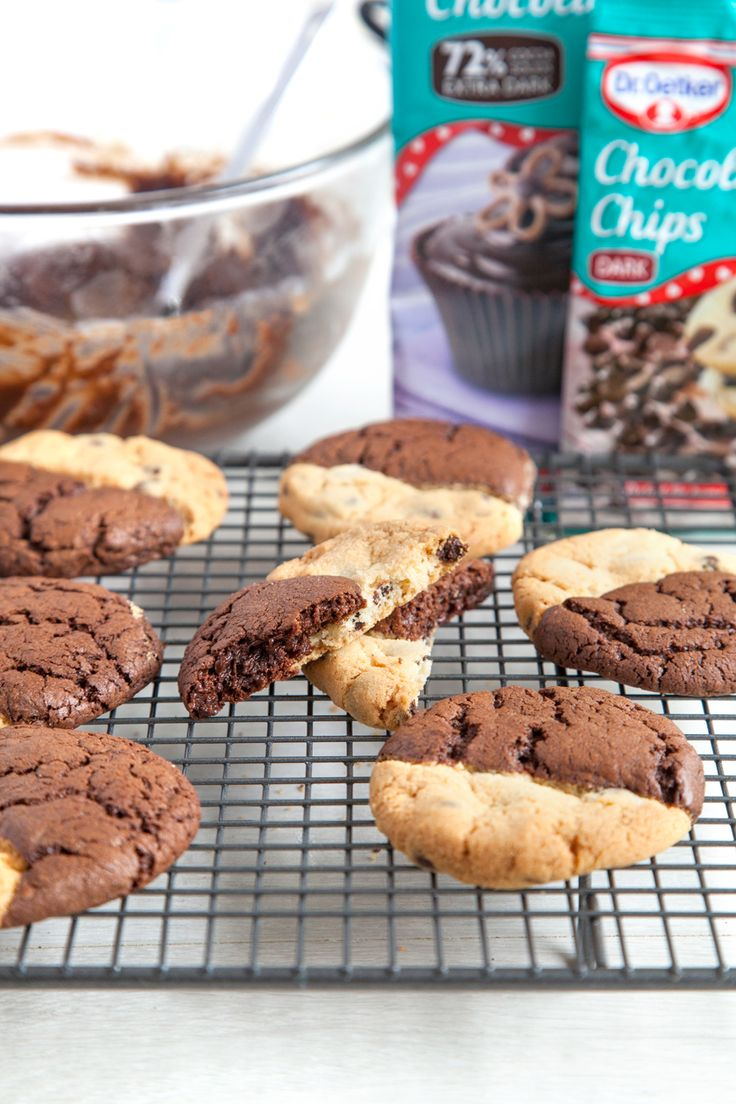 Browkies: decadent brownies and crumbly choc chip cookies in one! - A Mummy Too