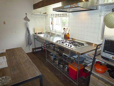 エレクターとのコラボで実現した「Frit's(フリッツ)」 シンプルで機能的なデザインが人気のキッチン.. http://www.stadion.co.jp/