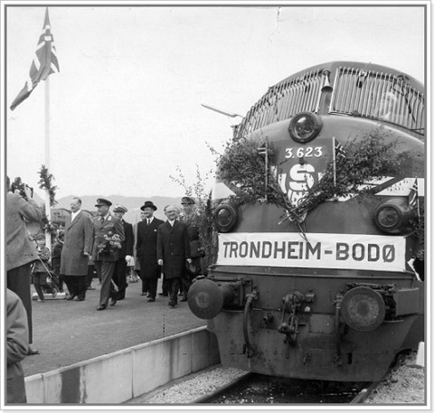From the inauguration of the Trondheim-Bodø service in 1962.