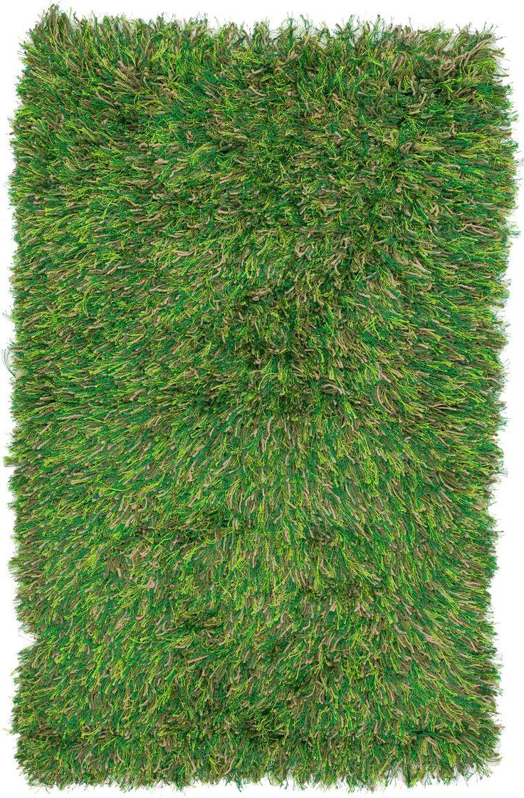 3x4 Green Shag Rug