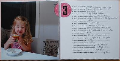 20 Questions to ask the kids on/near their birthday every year.  How the answers will change!