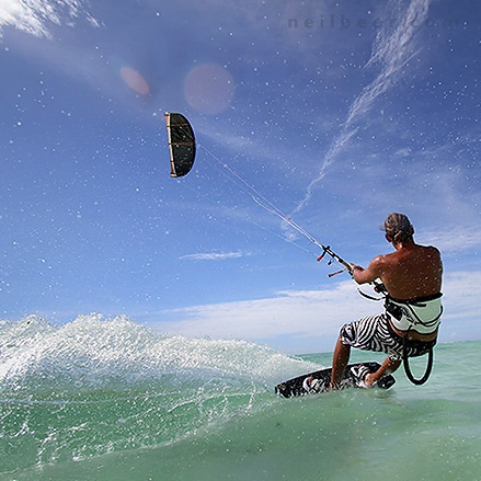 Kite Surfing. Zanzibar. Tanzania    © www.neilbeer.com  PHOTOGRAPHY SWANSEA