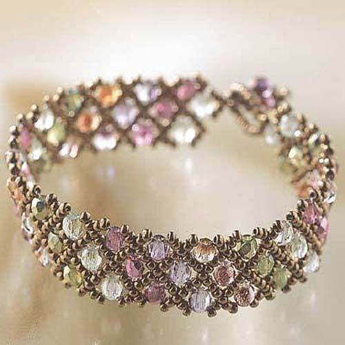 CREATE YOUR OWN DIY MIYUKI GLASS BEAD BRACELET KIT WOVEN NET PATTERN from beadaholique.com