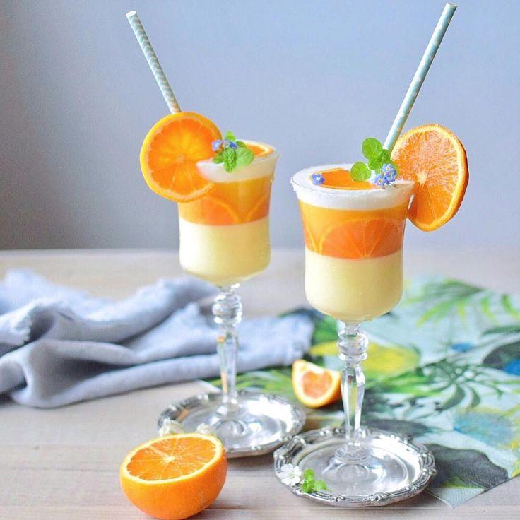 いいね!2,407件、コメント18件 ― Haseさん(@_hase_home)のInstagramアカウント: 「orange jelly 🍊 .  オレンジムースとオレンジゼリーを グラスに入れて🍊 国産カラミカンと国産マンダリンです。 . .  2017.5.17 . .  #sweets #dessert…」