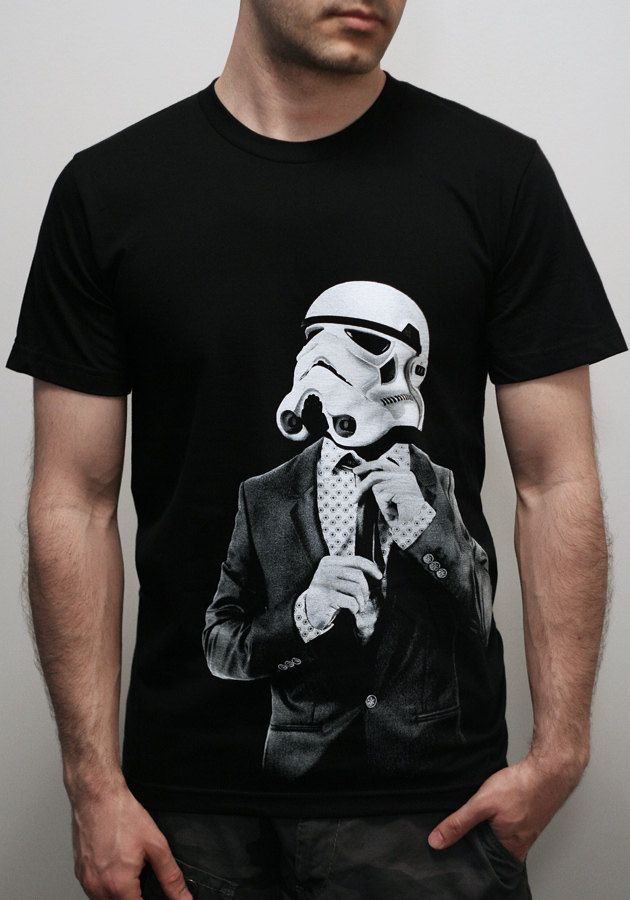 Smarttrooper - Mens t shirt / Unisex t shirt - 2XL ( Star Wars / Stormtrooper t shirt ). $25.00, via Etsy.