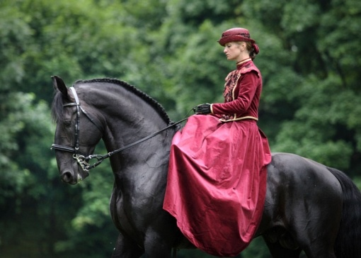 side saddle. I've never tried it, but I'm thinking it feels pretty imbalanced.