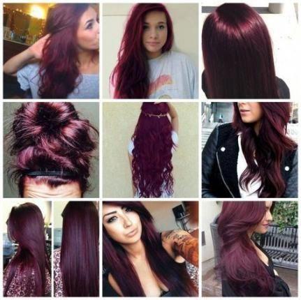 20 Ideas Hair Color Plum Burgundy Make Up #hair #redhaircolor