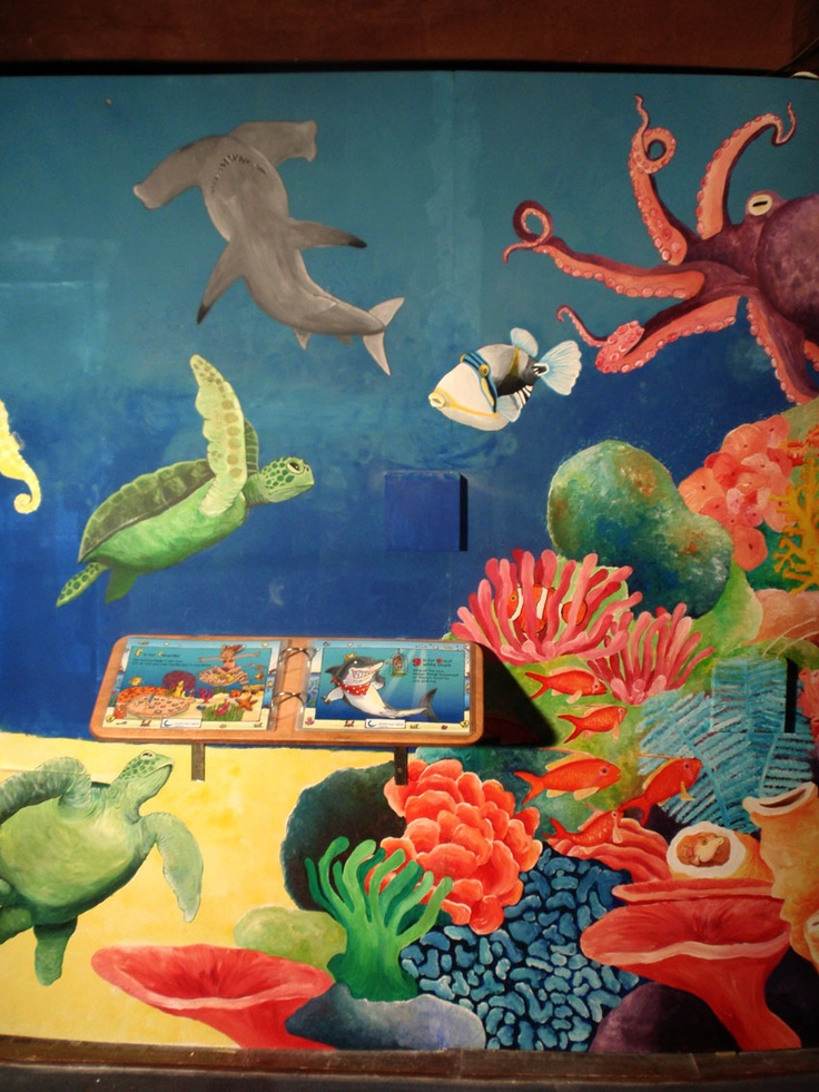 39 best emily trotter illustration images on pinterest for Aquarium mural