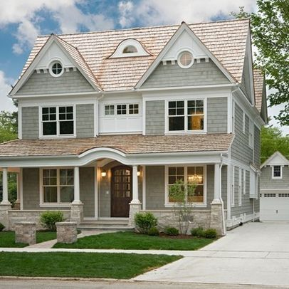 Light brown shingle roof design ideas pictures remodel Exterior house colors with brown roof