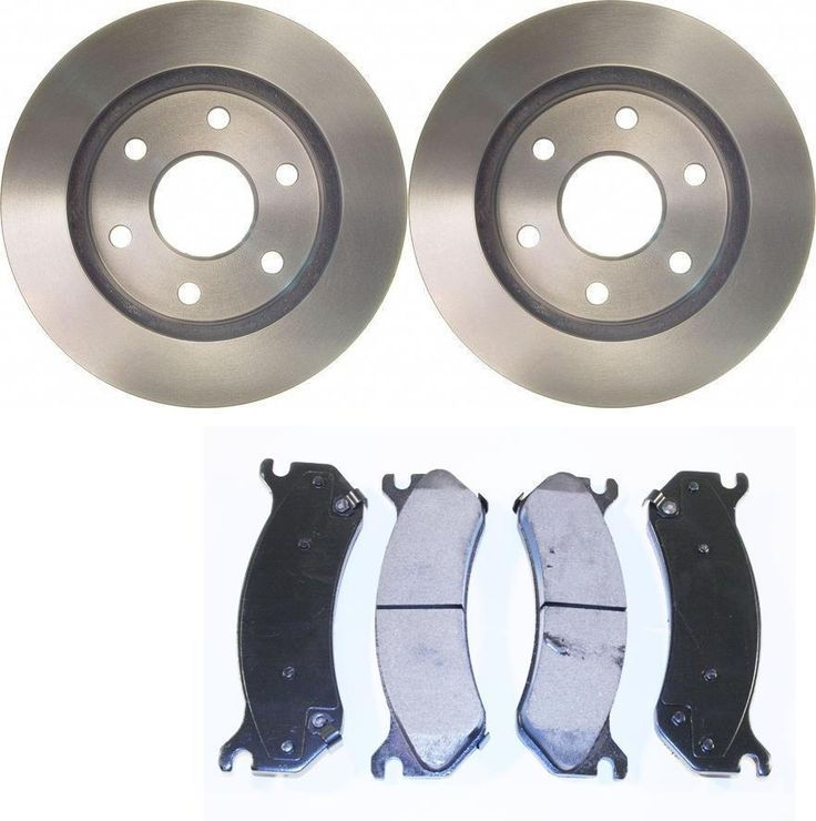 PREMIUM FRONT CERAMIC BRAKE PADS AND DISC ROTORS COMPLETE KIT LEFT & RIGHT PAIR #PrimeChoice
