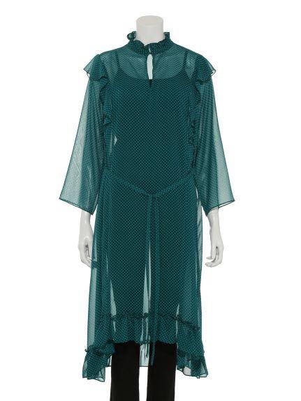 ラッフルワンピース(膝丈ワンピース)|Mila Owen(ミラ オーウェン)|ファッション通販|ウサギオンライン公式通販サイト