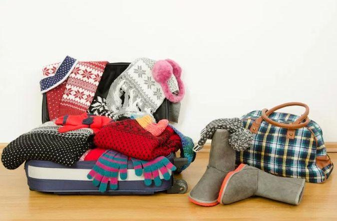 Escolher roupas de inverno para viagem