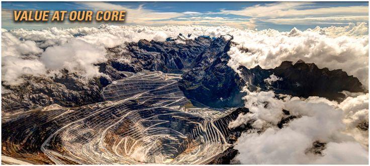 Grasberg mine in Papua, Indonesia