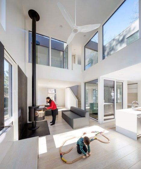 each room in grow box a family home in boston is paired with at - Home Interior Architecture