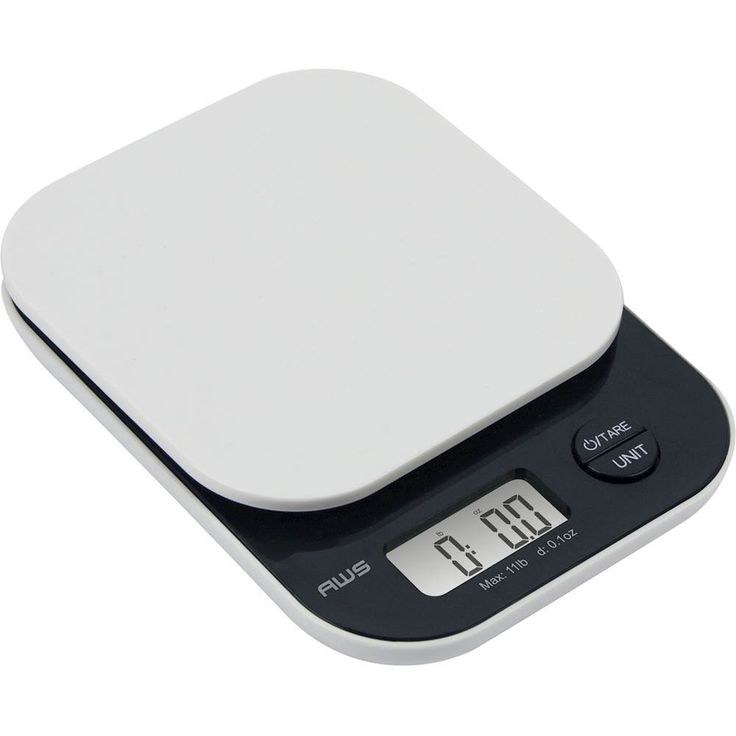 American Weigh Scales - Vanilla Digital Kitchen Scale - White