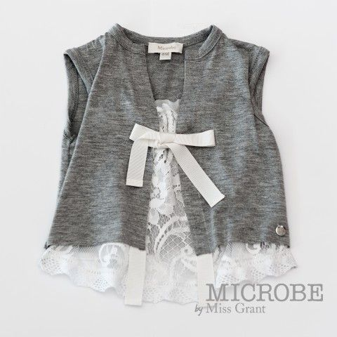 JERSEY SINGLET WITH LACE. Sale 50% off Spring&Summer Collection!