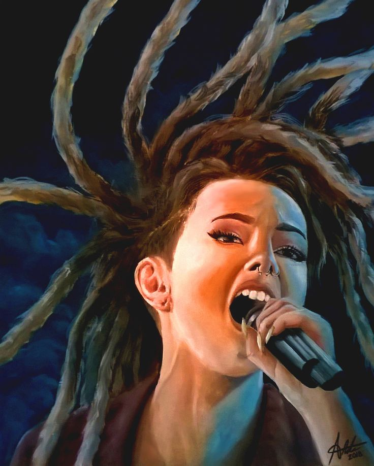 Oil Paint of Zhavia from the four. Made by Rita Martins.