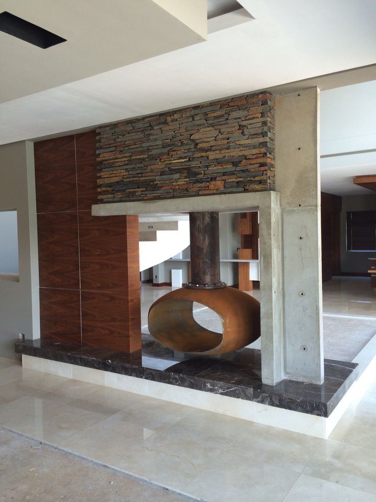 Private residence fireplace detail